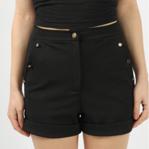 modny black casual shorts modny.in